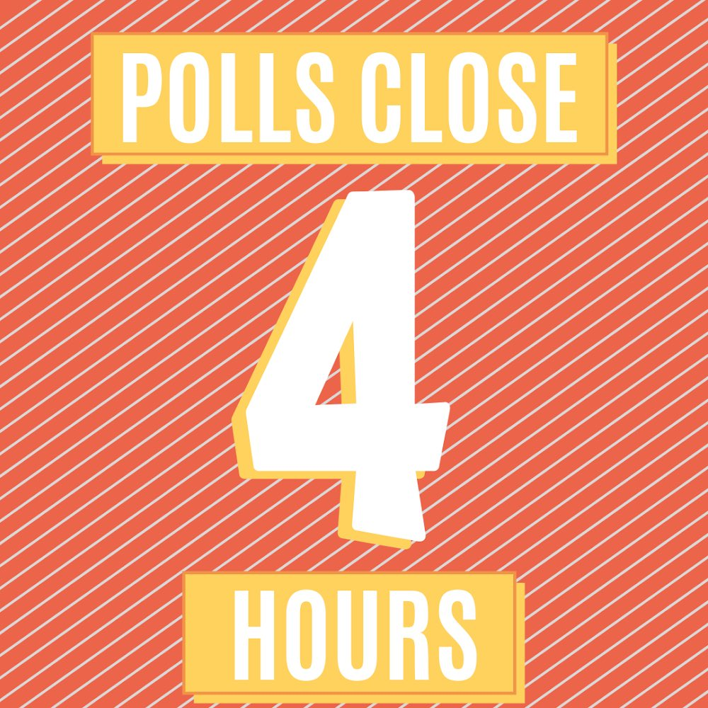 4 hours and counting till polls close! Make a plan and vote! #Teresa4All