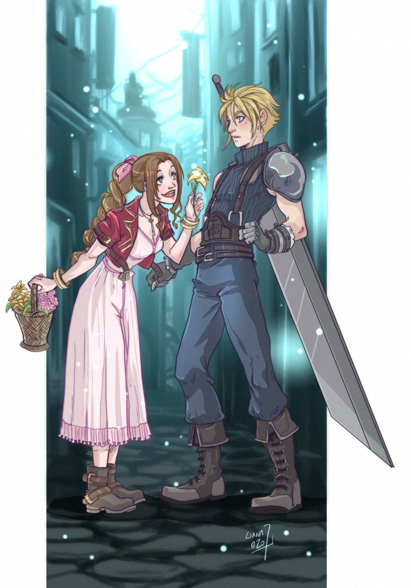 Unfortunately I don't have much time to draw in recent times, but every now and then they come out  #clerith #FF7R #FF7 #FinalFantasyVIIRemake #CloudStrife #AerithGainsborough #Aerith #fanart #couple pic.twitter.com/7hpSltMYcp