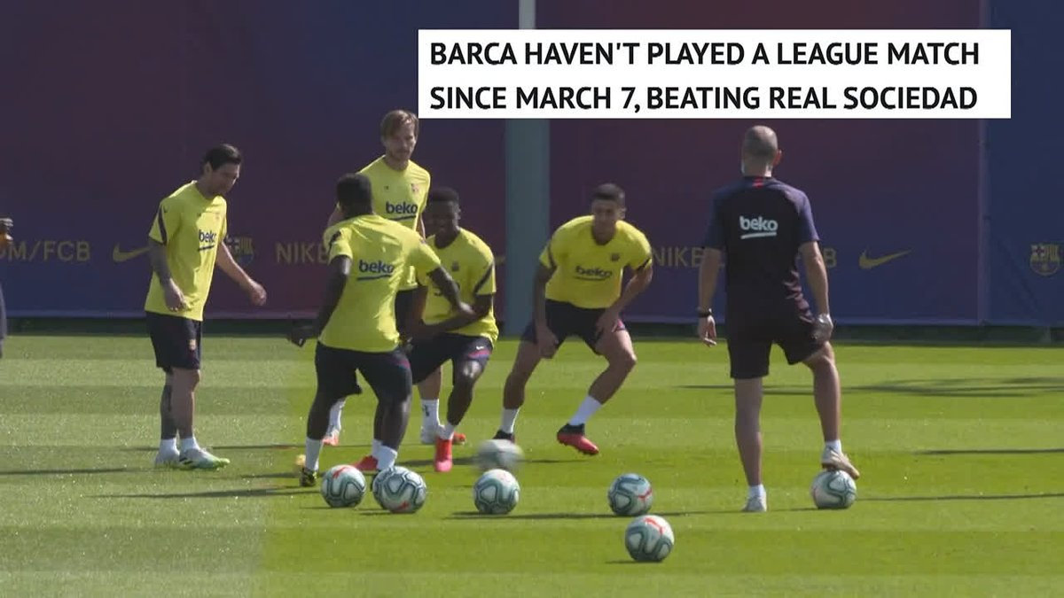 Another day of hard work for Barcelona 💪 11 days until we get to watch Lionel Messi again 👀