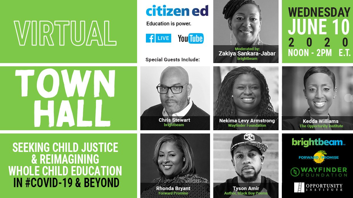 Really looking forward to this next week. We must continue our work to advance real justice in this country.   Thank you @citizenstewart @nvlevy @keddamay @childshining and @tysonamir for agreeing to share your expertise with the world 🌎.   #EducationEquity https://t.co/OTbQsONabq