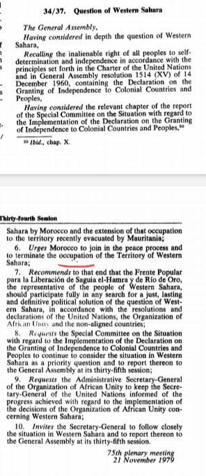 Thank you if you go deep in this research you will find that Morocco actually is occupying Western Sahara even UN condemned this occupation many times pic.twitter.com/d1yOdgH9FM