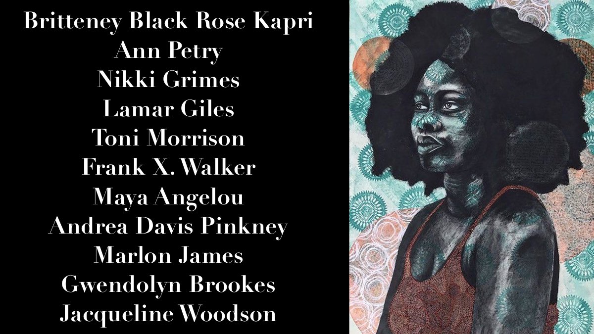 Read Black Writers. Support Black Artists. Artwork by: Delita Martin