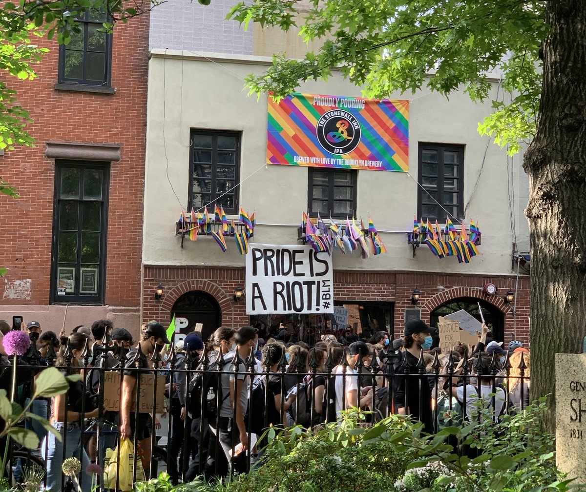 Pride is a Riot. Stonewall Inn, June 2020