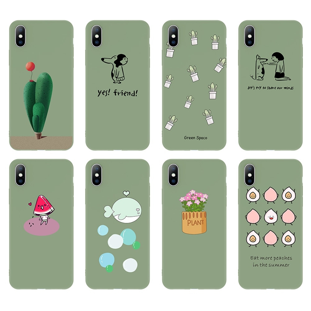 #iphone #iphoneonly #iphonesia #iphoneography Green Cartoon Patterned Phone Case for iPhone