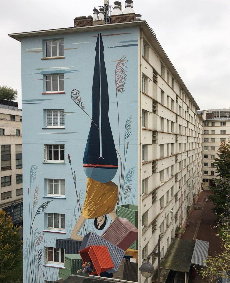 'Global Truc' by French MioSHe in Paris (14e), France (2019)  #mioshe #paris #paris14eme #artderue #streetartparis #streetart #mural #graffiti #sirsasana #yoga  📷 via Insta artist | https://t.co/cOGSsy1jok https://t.co/L5Da3eX8PM
