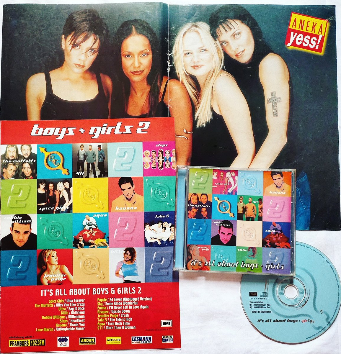 """Boys & Girls 2"" is one of the famous Compilation CD in the Southeast Asia back in 1999,  @spicegirls is included in this compilation with their Hit Single ""Viva Forever"". #spicegirls https://t.co/X6PSyvruRU"