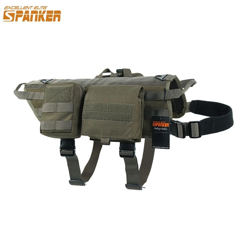 EXCELLENT ELITE SPANKER Dog Molle Vest Training Pet Dogs T-Shirt Outdoor Harness Molle suit with Handle and three pouches  ➤ $ 150.97.  ➤ https://pooo.st/7m1mH #doglifeisawesomepic.twitter.com/PO7kTbfIxK