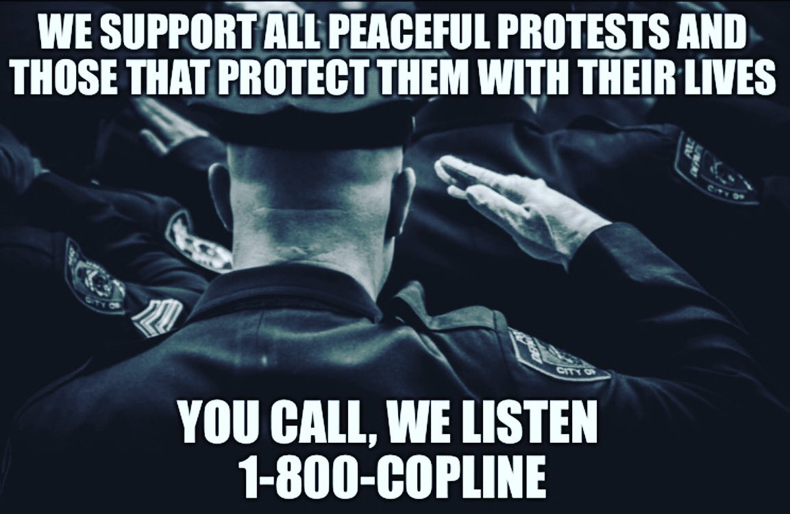 24/7/365 - REACH OUT, WE'RE HERE! #CopLine #AnOfficersLifeline #1800COPLINE #Trauma #Resiliency #Anxiety #NoStigma #NoJudgement#Confidential #BlueLivesMatter #StopSuicides #ThinBlueLine #Peace #Depression #Police #PTSD  #Hotline #SupportTheBlue #EndTheStigma #Stress #United https://t.co/zhpjBVhhJ1