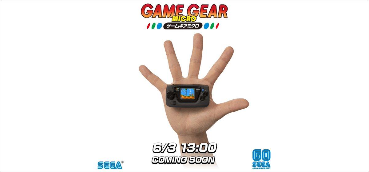 セガが携帯ゲーム機「ゲームギアミクロ」の発売をアナウンス。本日13時にオープンする公式サイトで詳細が明らかに #SEGA60th #GOSEGA #ゲームギアミクロ
