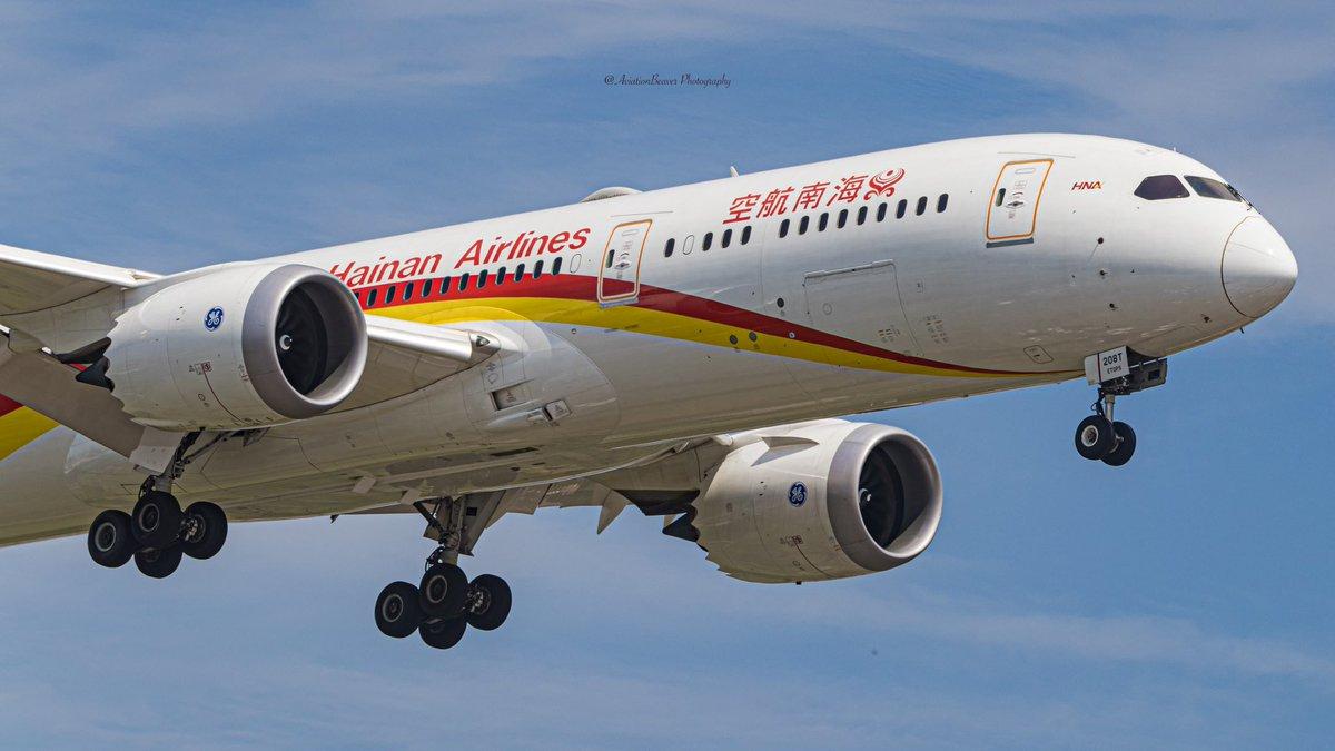 @HainanAirlines @BoeingAirplanes 787-9 Dreamliner approaching runway 24R @TorontoPearson   #AvGeek #hainanairlines #yyz #airlines #toronto #planespotting https://t.co/uIR9enFhje
