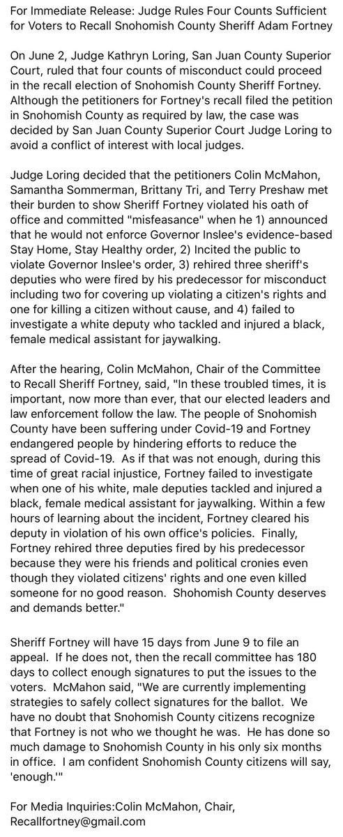 Regarding Sheriff F*rtney: