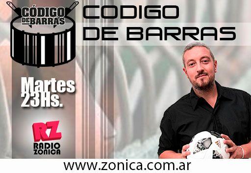 #AIRE #RadioZonica #GrupoZonicaEnCasa  Ya comenzó #CodigoDeBarras, el primer y único programa radial que lucha contra la violencia en el fútbol. 23 a 00hs.  AHORA, en vivo, desde casa. http://www.radiozonica.com.ar // App: Radio Zonicapic.twitter.com/MnXlh1bWnX