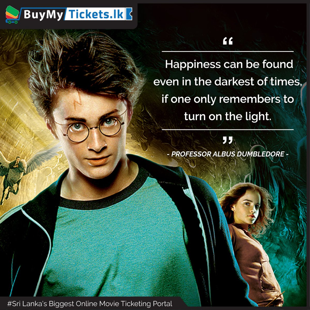 It can be difficult to try to see the lighter, more positive side of a dark situation, but it's important to try to look for it anyway. Your happiness depends on it.  #BuyMyTickets #harrypotter #movielines pic.twitter.com/aNDHKowupr