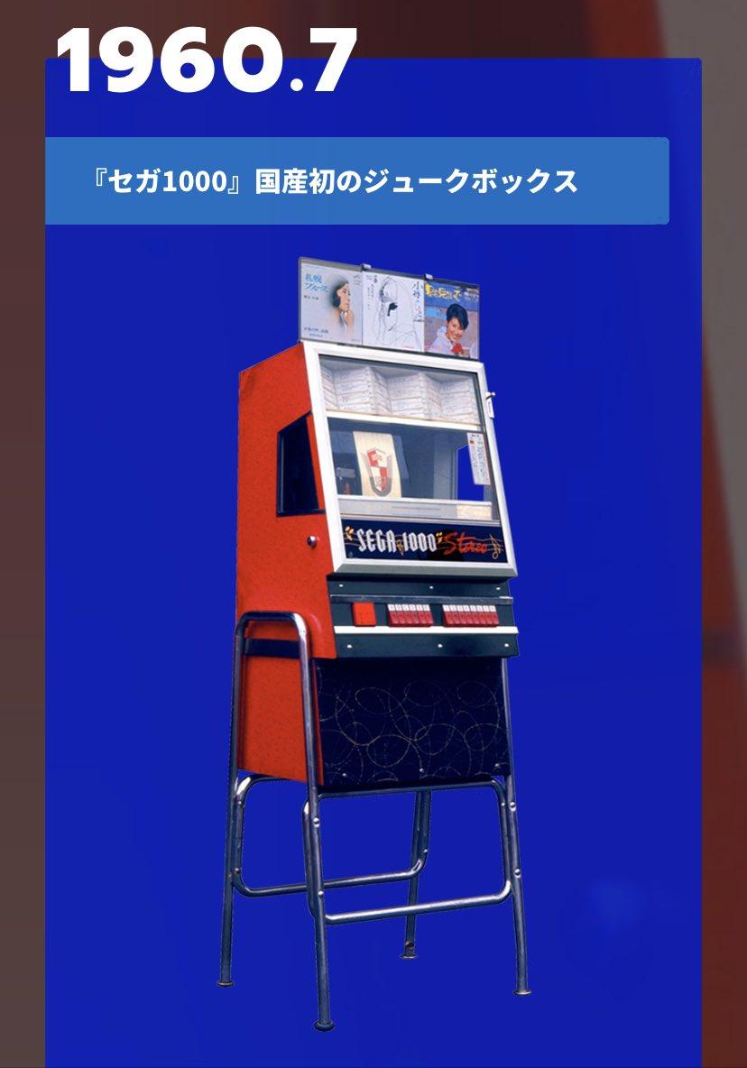 【#セガ60周年】1960年6月、ジュークボックスやピンボールマシンなどを扱う日本娯楽物産(株)が設立。国産初のジュークボックスを開発し、「Service(サービス) Games(ゲームス)」の頭文字をとり、これを「セガ1000」と名付けました。   #GOSEGA #SEGA60th