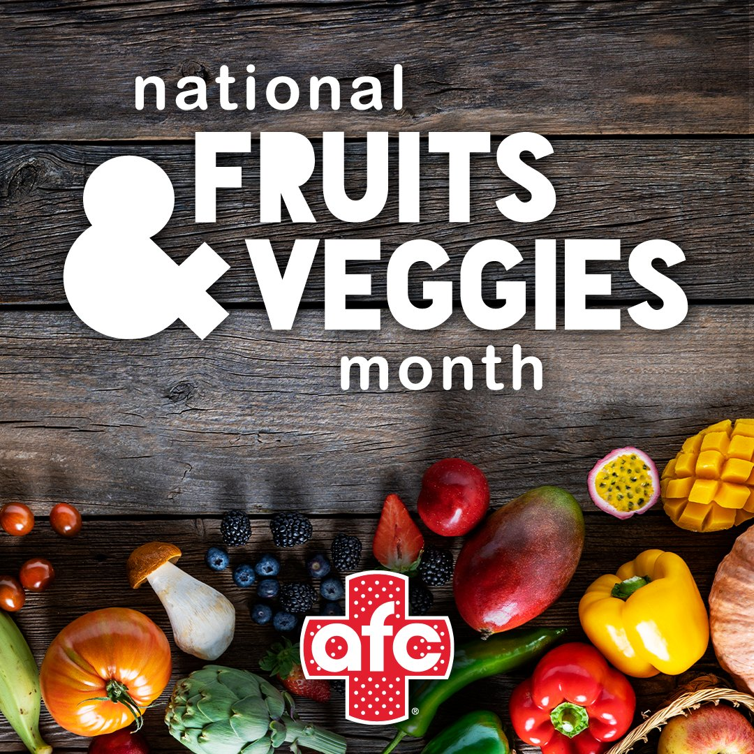 Did you know June is Fruit and Veggies month? Why not hit up your local farmer's market this weekend and enjoy the summer's bountiful harvest! What are your favorite fruits and veggies? pic.twitter.com/TnVLIHlvZw