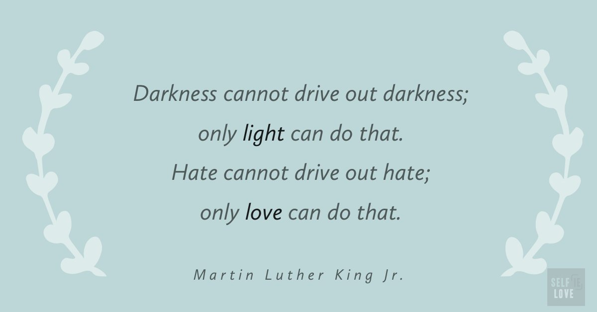 Be the love and light in a world filled with darkness #quote #positivity #love #selflove #selfcare #selfreminder #selfloveclub #confidence #empowerment #goodvibes #positivevibes #mentalhealth #healing #happiness #inspirationpic.twitter.com/WnIU1Gsur6