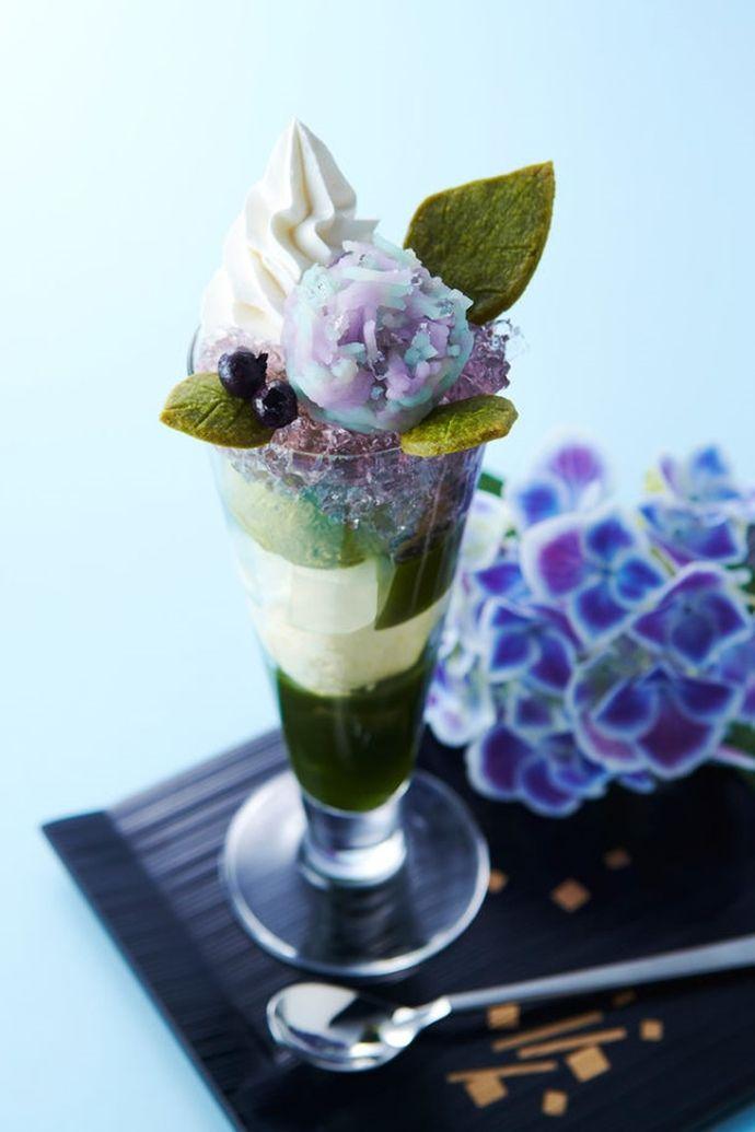 美しい……京都・伊藤久右衛門の「紫陽花パフェ」 今年も初夏に販売スタート