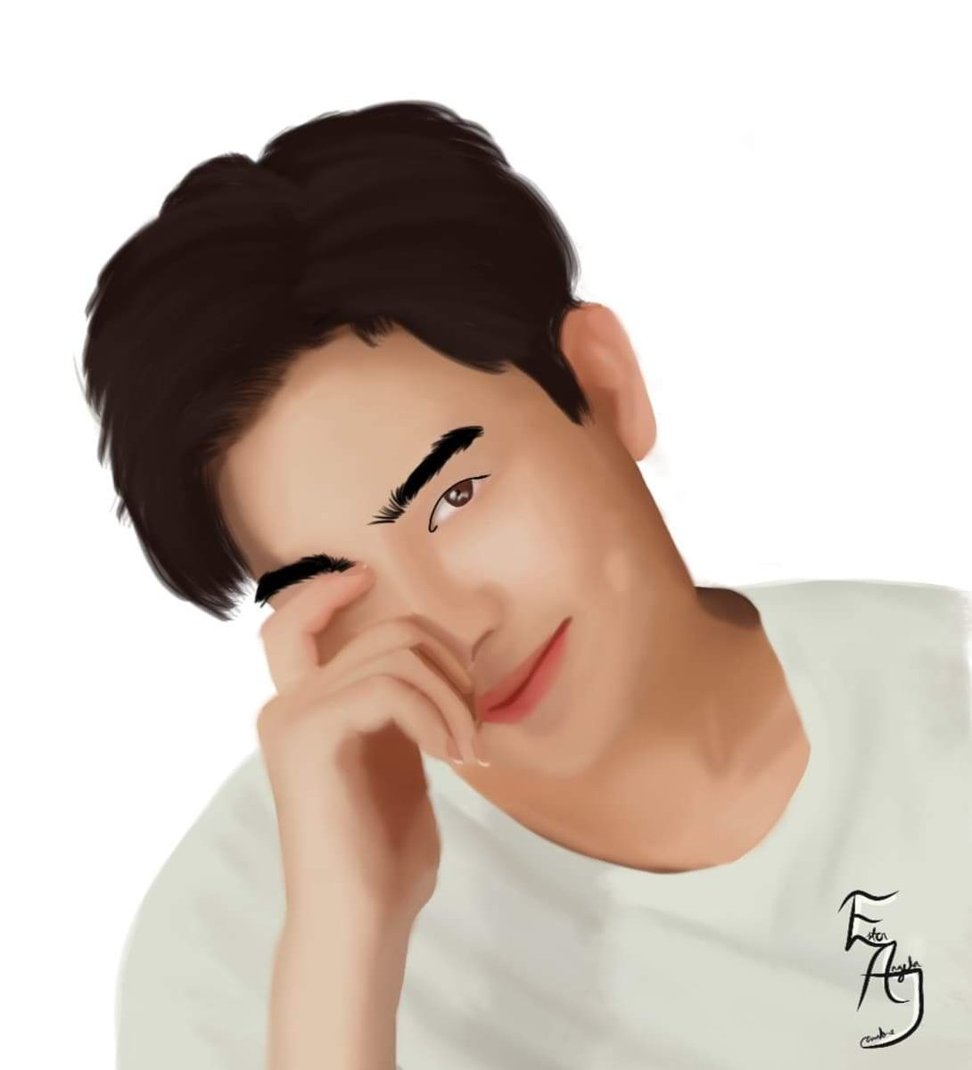 I asked my friend @EsterAngelaJ1 to make this beautiful digital art of @tommysittichok since I am one of his so-called die hard fans. I really hope he'll see this pic.twitter.com/afPtZgXhUt