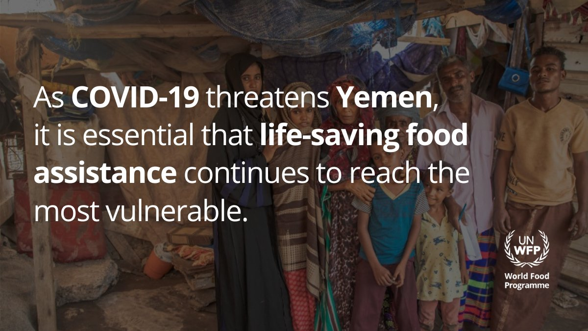 Today, the #COVID19 pandemic is pushing Yemen even closer to the brink of collapse. @WFP is out there providing life-saving support to vulnerable families in #Yemen. #FundForYemen #YemenCantWait
