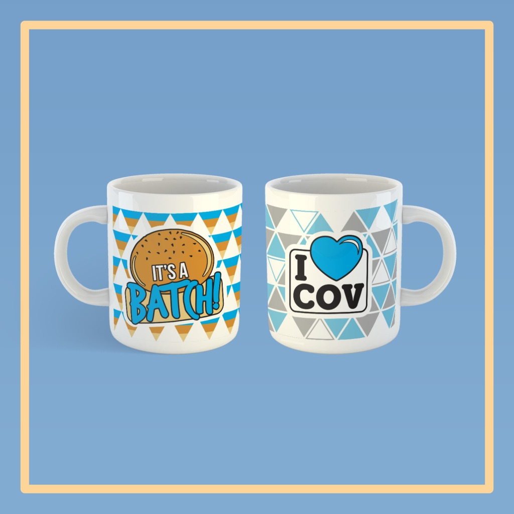 Based on the designs of our popular pin badges, the mugs are another way to show your pride in our city - a cup of tea in our mug is the perfect companion to your morning bacon batch! Available to buy at etchandpin.co.uk/collections/mu…! #thisiscoventry #covhour #coventry2021 #covmerch