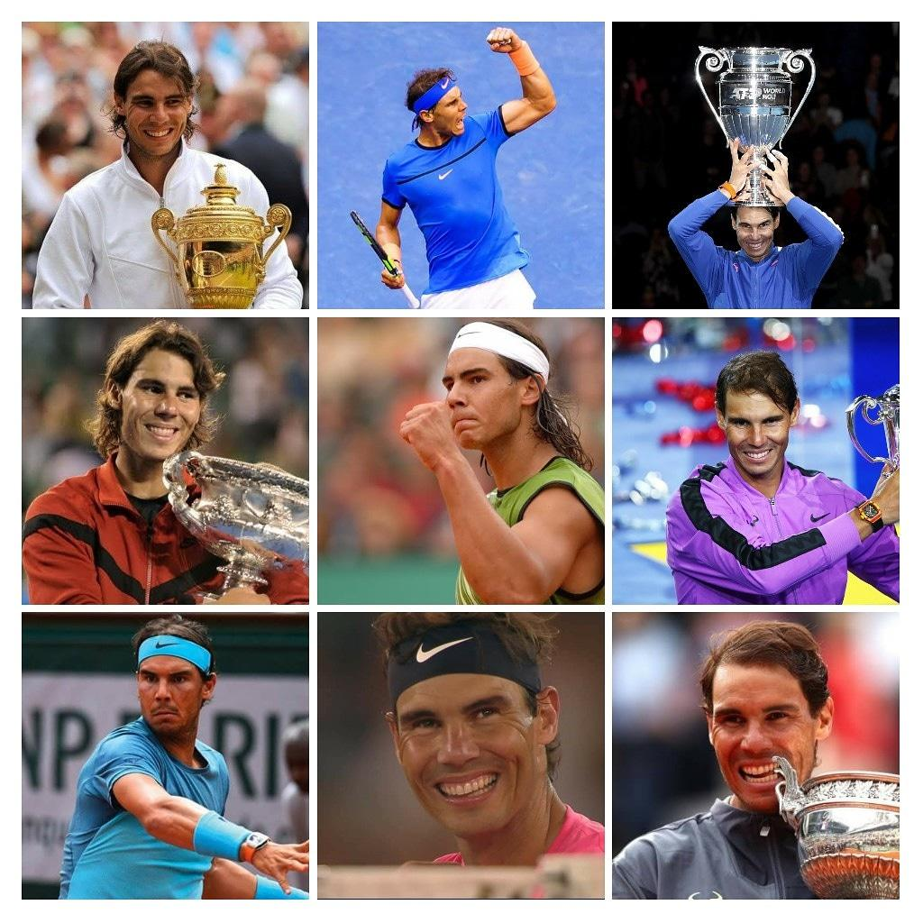 ✓Won his 1st GS at 19 ✓19 Grand Slam 🏆 ✓Record 12 #FrenchOpen 🏆 ✓Record 35 #ATPMasters 1000 🏆 ✓Most Outdoor 🏆 in the Open Era (83)   ✓85 Career 🏆 ✓5-time #DavisCup Champion #Olympic Gold Medalist 🥇  The 🤴 of Clay!   Happy 34th Birthday, @RafaelNadal 🇪🇸 🎉🎊 🎾❤️ https://t.co/pOzQZ10nLq