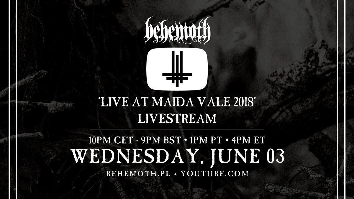 "Legions! In celebration of ""A Forest"" releasing we're going to be streaming our ""Live at Maida Vale 2018"" documentary TONIGHT on YouTube! Join us…  Watch/Set a reminder here:  https://t.co/ntYaxyo6Qk  10pm CET · 9pm BST • 1pm PT • 4pm ET https://t.co/e7UkcbN0sV"