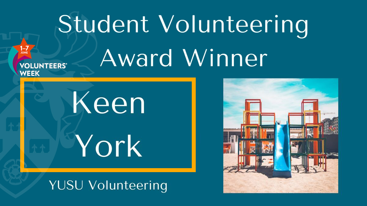 Student-run volunteer group, @KEENYork organise fun weekly activity sessions for children with special needs aged 3-16. Everyone volunteering at KEEN York always has a smile on their face 😊  🏆#StudentVolunteeringAwards @UoYVolunteering #VolunteersWeek @yorkunisu https://t.co/TOwiFonmvq
