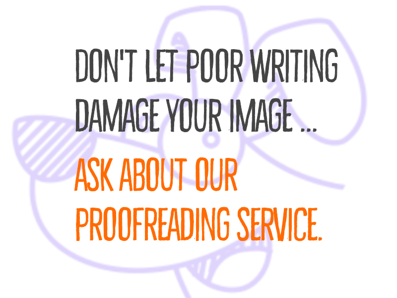 A reminder that DoodlyDog also offers a #proofreading service. See doodlydog.wales for (a few) more details ...