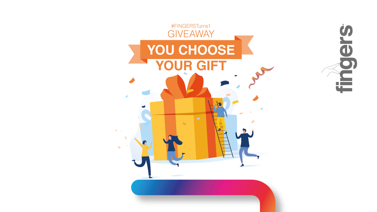 #GiveawayAlert  As #FINGERSTurns1, we are filled with gratitude & here's a chance to win your favourite FINGERS Gadget. 3 Easy Steps: Like, RT & Follow @fingersindia Let us know your fav FINGERS Gadget Mention 2 friends!  2 random winners. Ends 5th June at 11 p.m. IST.<br>http://pic.twitter.com/gHOplUYARH