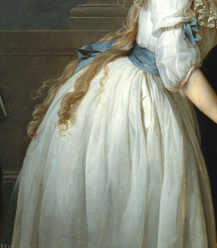 絵画の中の軽やかで優美な白いドレスいろいろ