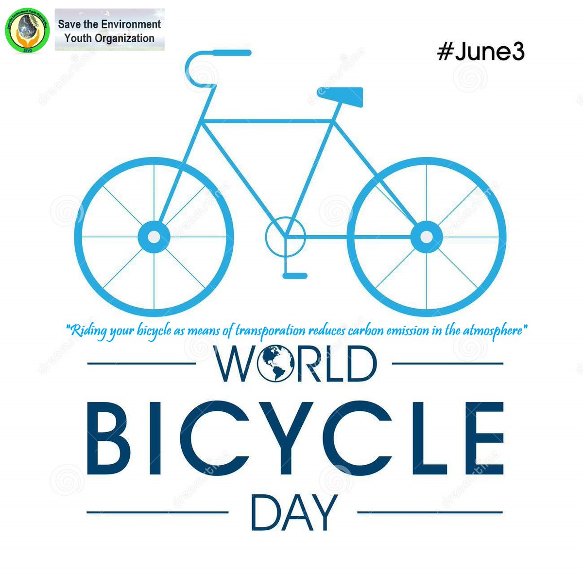 "Today is #WorldBicycleDay !  ""Riding bicycle as means of transportation reduces Carbon accumulation in the Atmosphere that causes greenhouse formation. It is a great physical activity too, It's beneficial to our environment and our health.""  So let's ride our bicycles! <br>http://pic.twitter.com/XBSA9nxQeb"
