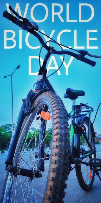 World Bicycle Day - 3 June  IMAGES, GIF, ANIMATED GIF, WALLPAPER, STICKER FOR WHATSAPP & FACEBOOK