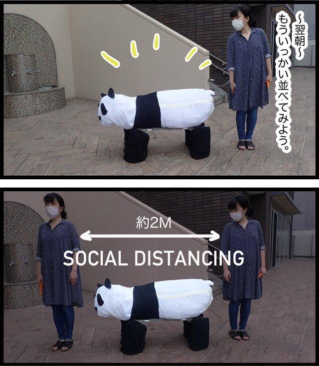 そういえば、ジャイアントパンダの大きさをちゃんと体感したことないなと思ったので作ってみました。力で押しきった感じの仕上がりだけど、大きさへの理解は一気にすすんだ…!!ソーシャルディスタンス用の実物大パンダを作る  #DPZ