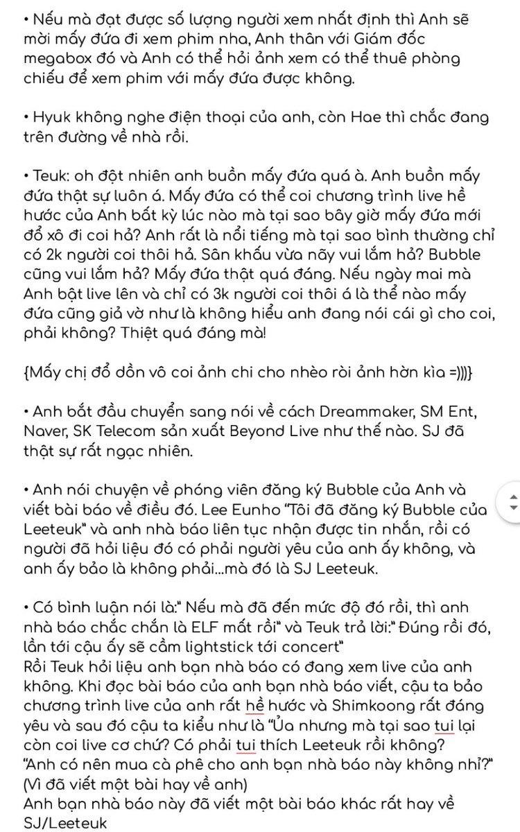 Bản tóm tắt buổi phát sóng trực tiếp #TKY của Teuk ngày 31/05/2020 Được dịch bởi @PJS_SJVNF  •Credit: thanhxuannie, YesungMorocco, MoonsLounge, teukables https://t.co/Zwda0lR5Zl