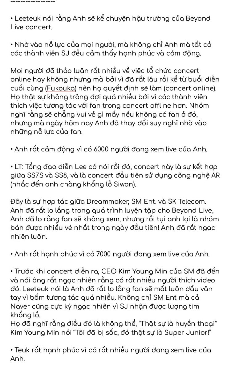 Bản tóm tắt buổi phát sóng trực tiếp #TKY của #LeeTeuk ngày 31/05/2020 Được dịch bởi @PJS_SJVNF  •Credit: thanhxuannie, YesungMorocco, MoonsLounge, teukables https://t.co/rhQvQD5QGS