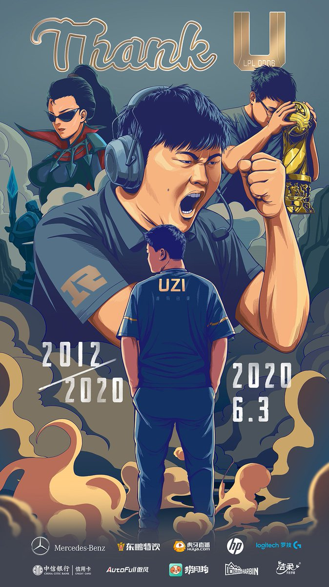 As of today, LPL0006 @UziRNG will officially retire. Uzi was not only the heart and soul of RNG, but also an icon in the esports world as a whole. From a teenager onwards he never gave up and worked as hard as he could to be the best he could in his role, he inspired many.