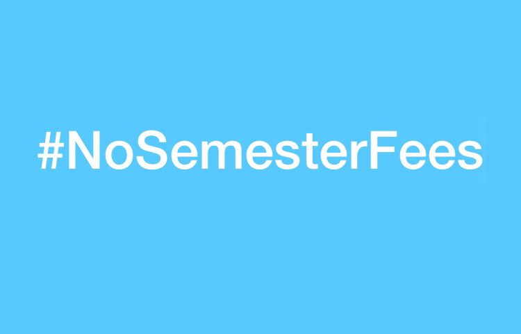 Our voice can do anything, so why not to use this voice against the business doing by Universities.? #nosemesterfees