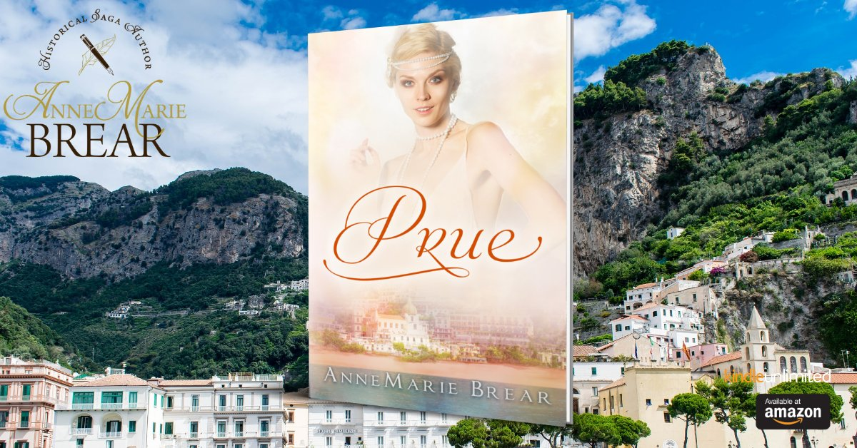 Prue  Some adventures come with a price… Book 2 in the Marsh Saga series! #1920s #familyseries #bookseries #kindleunlimited #historicalfiction #India #Italy #Amalfi #Rome Amazon: