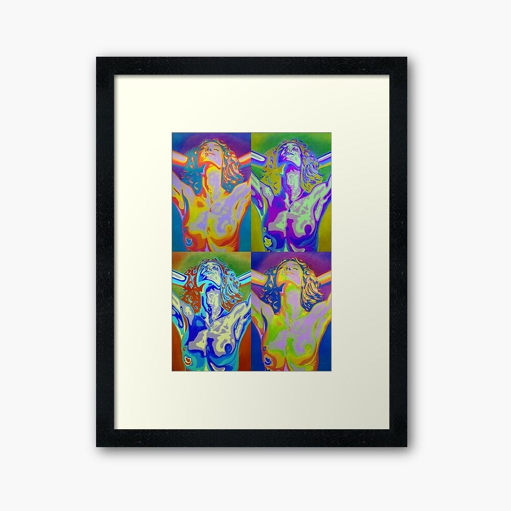 The United Colours of Orgasm: a semi #abstractart #acrylicpainting acrylic painting of a reclining #woman. Painted in contemporary and bold colours: beautiful #bedroomart. #RBandME:   #findyourthing #redbubble