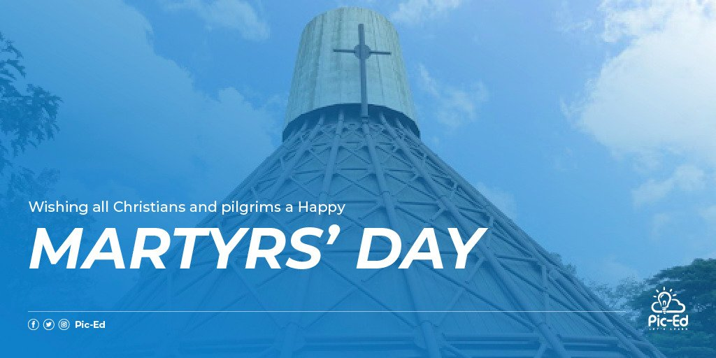 We join the rest of the world to remember and celebrate the Uganda Martyrs who sacrificed their lives for the Christian Faith.  Happy #MartyrsDay.pic.twitter.com/vtkaByGy5G