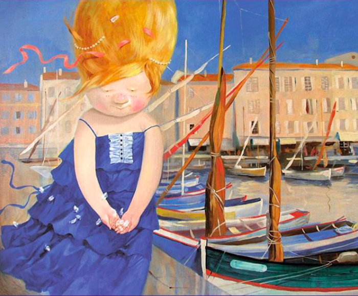 💙💙💙 #gapchinska #art #artbrand  #woman #port #summertime