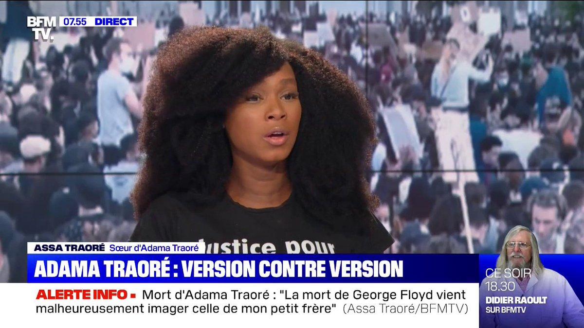 Assa Traoré: Le seul responsable de ce quil sest passé hier en fin de manifestation, cest le préfet Lallement
