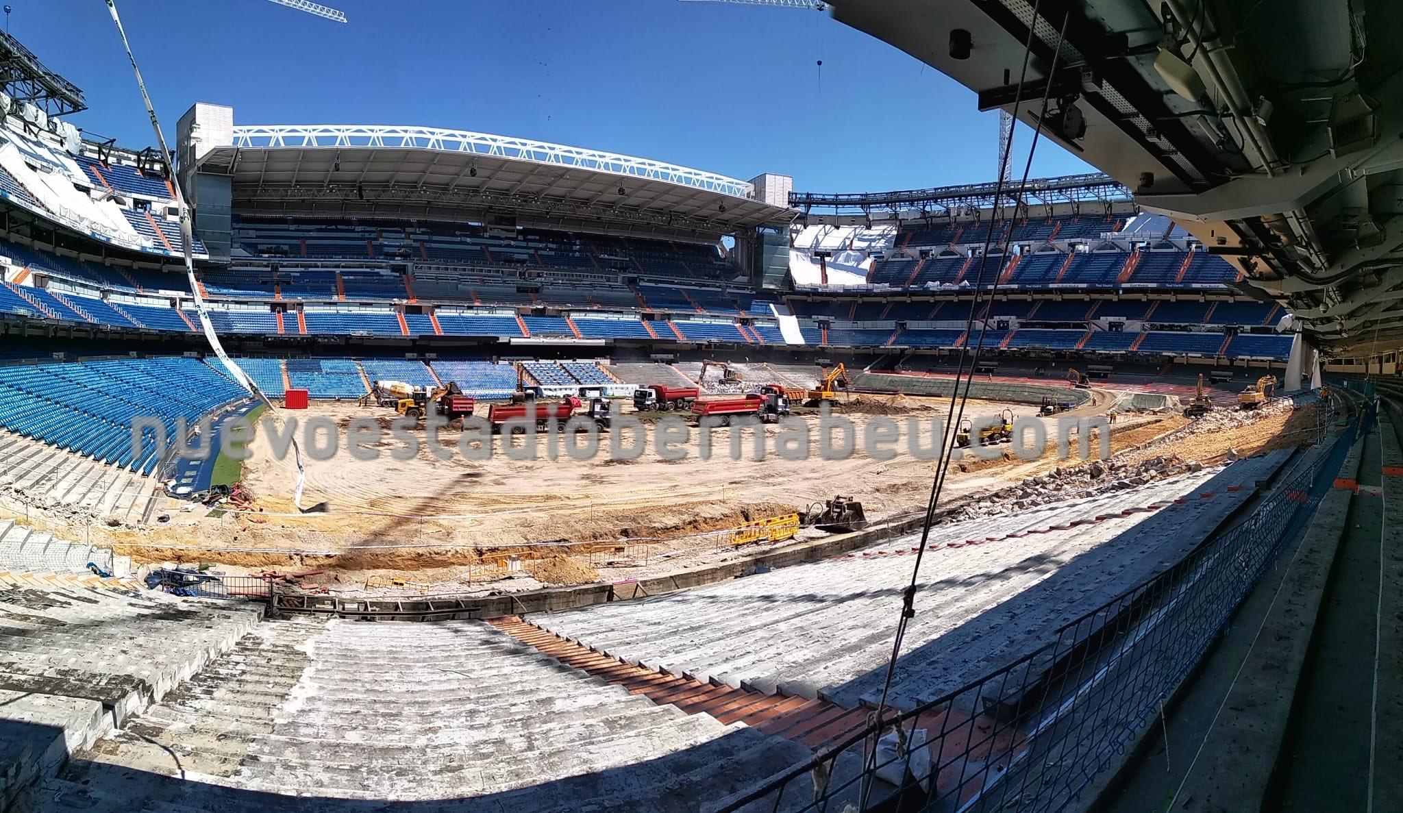 Interior del Santiago Bernabéu (Foto: @nuevobernabeu).