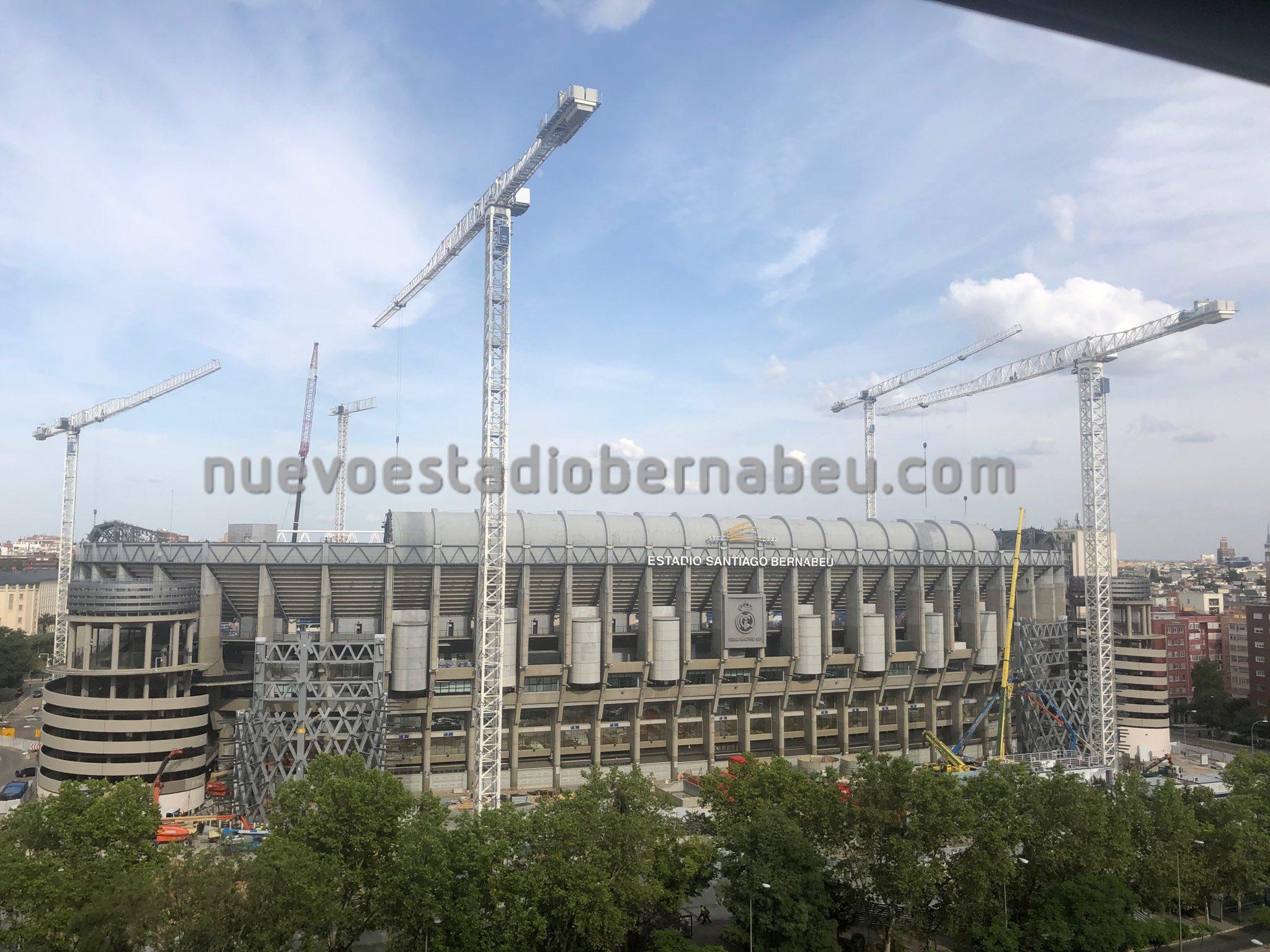 Imagen exterior del Santiago Bernabéu (Foto: @nuevobernabeu).