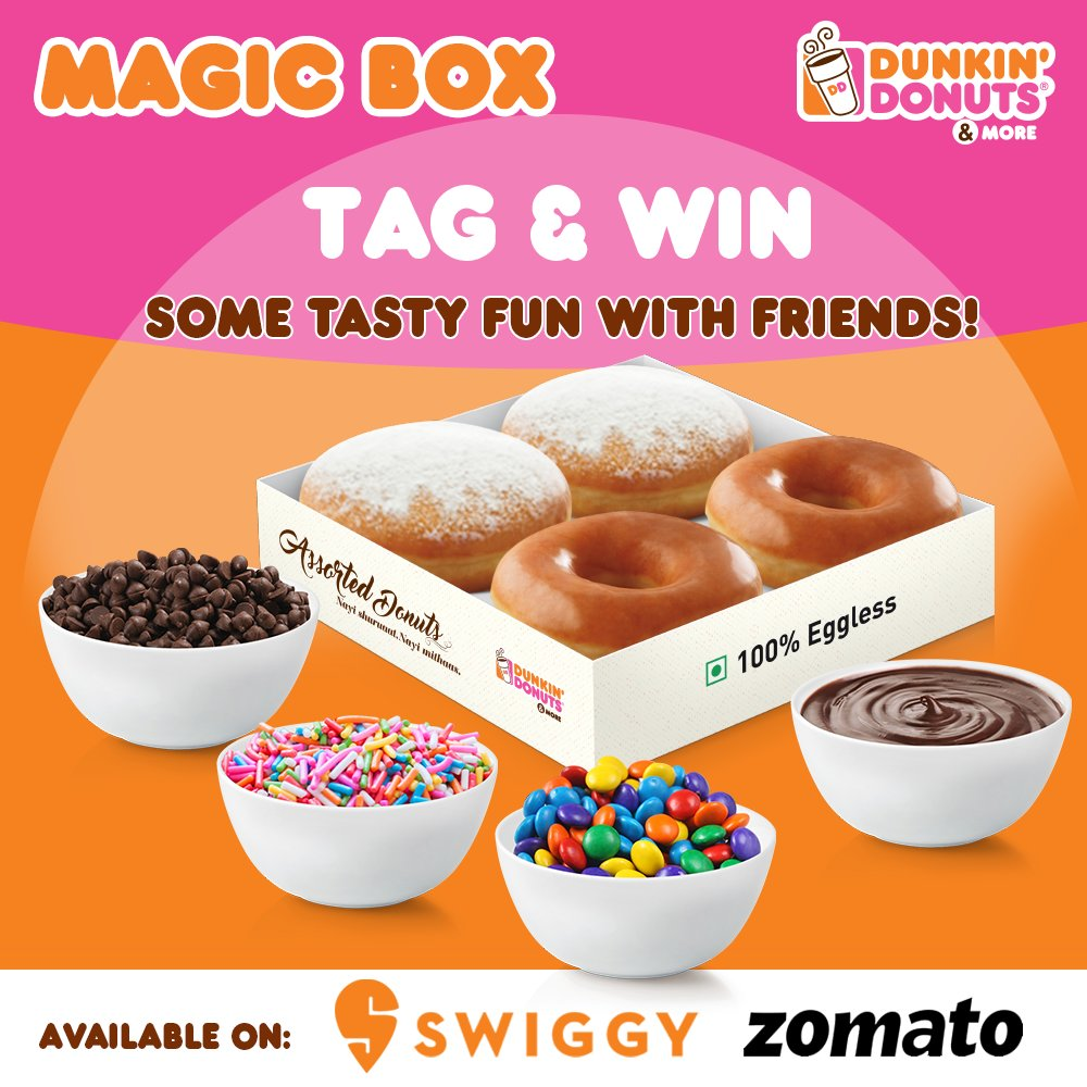 #ContestAlert Calling out all donut lovers for another exciting contest! We are giving away 10 Signature Box of 6 Donuts! So, tag another donut lover friend and you could both win! #Contest from 3rd - 9th June.  Read T&C from - https://t.co/6elZHcJ4Xy  #dunkindonuts #DunkinIndia https://t.co/n6PguXtqVA
