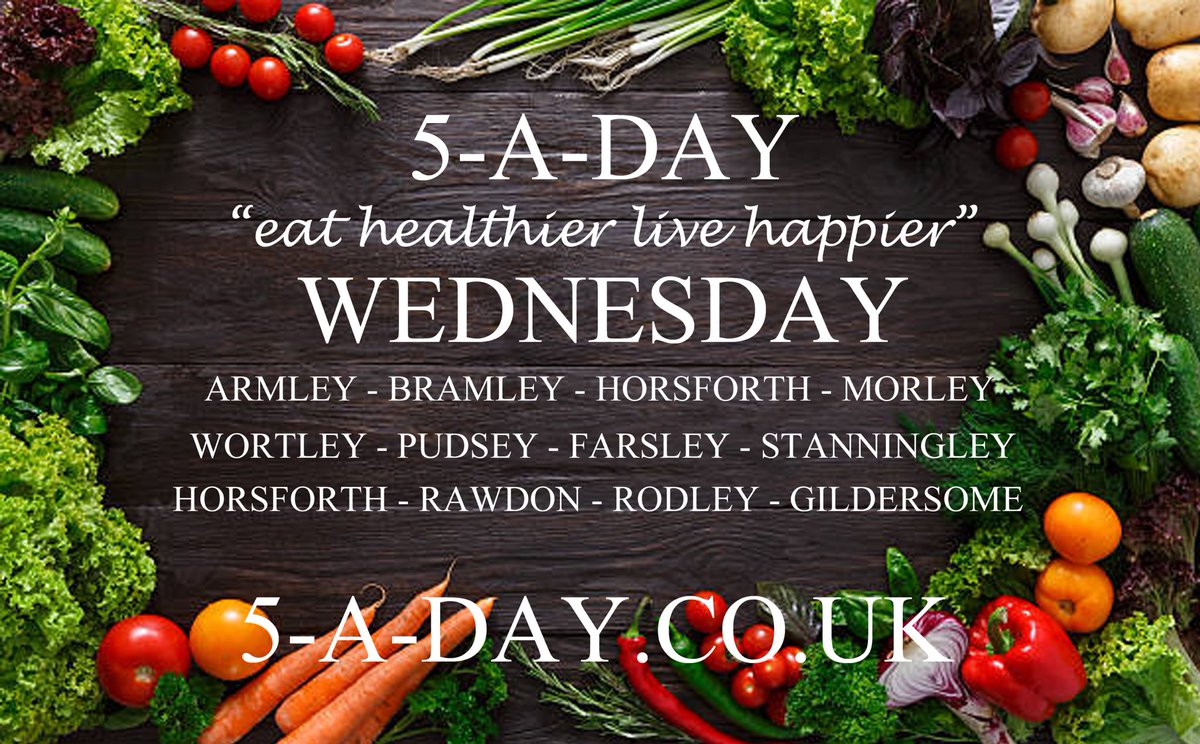 You can now order your fresh fruit and vegetables online for delivery next Tuesday if you live in the areas below 🥬🥑🥝🍇 #5-A-DAY.CO.UK #wednesday #leeds #armley #bramley #pudsey #morley #horsforth #rawdon #rodley #wortley #farsley #stanningley #rodley #fruitboxes #vegboxes #ls https://t.co/J6mltvi4mO