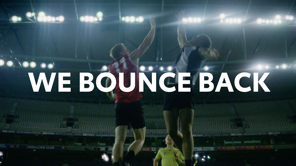 Image for the Tweet beginning: Together, we bounce back. And