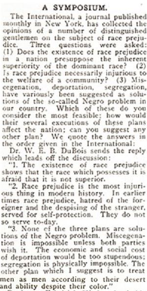 "W. E. B. DuBois in The Crisis, Sept. 1911 : ""Race prejudice is the most injurious thing in modern history"" @NAACP #throwback #naacp #ChangeIsNeeded https://t.co/lKSpJtwZhm"