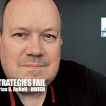 Image for the Tweet beginning: When strategies fail - When