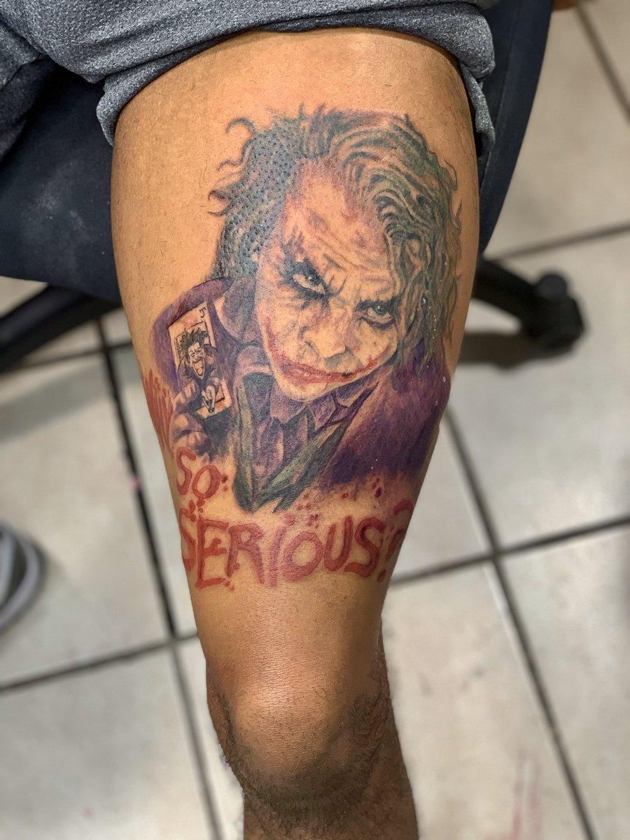 WHY SO SERIOUS? #tattoo #blacktattoo #artist #jokertattoo